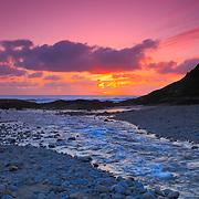 Bob Creek Sunset - Oregon Coast