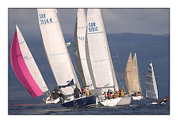 Largs Regatta Week - August 2012.Round the Island Race,.Keelboat Classes and Dinghies race round Cumbrae.