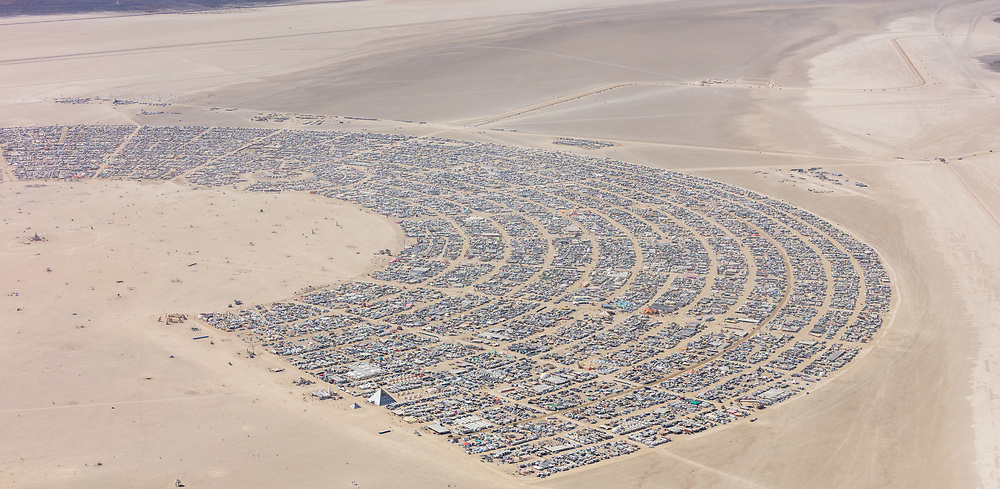 Burning Man Aerial Photo 2019. I shot this while hanging out the window of a small Cessna. The image was shot on Friday August 31, 2019. Thank you to the pilot of the aircraft Purple Haze.