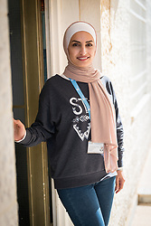 16 February 2020, Irbid, Jordan: Manal Ali Al-Husban serves as referral officer at the Lutheran World Federation community centre in Irbid. The centre offers psychosocial support to Syrian refugees in Jordan.