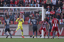 October 22, 2017 - Porto, Aves, Portugal - Benfica's Belgia goalkeeper Svilar during the Premier League 2017/18 match between CD Aves and SL Benfica, at Estadio do Clube Desportivo das Aves in Aves on October 22, 2017. (Credit Image: © Dpi/NurPhoto via ZUMA Press)