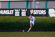 Workington Town interchange Scott Leatherbarrow (24) scores a conversion during the Ladbrokes Challenge Cup round 3 match between Hunslet Club Parkside and Workington Town at South Leeds Stadium, Leeds, United Kingdom on 24 February 2018. Picture by Simon Davies.