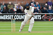 Hashim Amla of Hampshire batting during the opening day of the Specsavers County Champ Div 1 match between Somerset County Cricket Club and Hampshire County Cricket Club at the Cooper Associates County Ground, Taunton, United Kingdom on 11 May 2018. Picture by Graham Hunt.