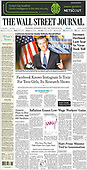September 15, 2021 - USA: Front-page: Today's Newspapers In United States