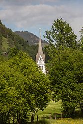 12.05.2018, Piesendorf, AUT, Seilbahnprojekt Hochsonnberg, im Bild die Ortskirche von Piesendorf // in Piesendorf, Austria on 2018/05/12. EXPA Pictures © 2018, PhotoCredit: EXPA/ Stefanie Oberhauser