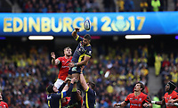 Rugby Union - 2017 European Rugby Champions Cup Final - Clermont Auvergne vs. Saracens<br /> <br /> Damien Chouly of ASM Clermont wins a line out during the Champions Cup Final at Murrayfield.<br /> <br /> COLORSPORT/LYNNE CAMERON