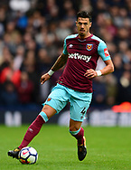 Jose Fonte of West Ham United in action. Premier league match, West Bromwich Albion v West Ham United at the Hawthorns stadium in West Bromwich, Midlands on Saturday 16th September 2017. pic by Bradley Collyer, Andrew Orchard sports photography.