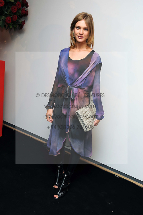 NATALIA VODIANOVA at the TAG Heuer British Formula 1 Party at the Mall Galleries, London on 15th September 2008.