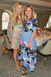 Left to right, PIPPA VOSPER and VIRGINIA CHADWYCK-HEALEY at a breakfast hosted by Halcyon Days at Fortnum & Mason, 181 Piccadilly, London on 8th July 2014.