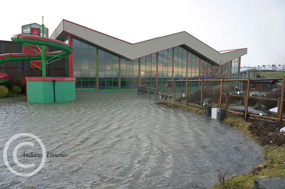 03/01/2014.  Leisureland  in Salthill Galway where the pool and gym will be closed for some time. The Dream Wedding Exhibition due to be held this weekend is postponed till next week as the main hall is not damaged. Photo:Andrew Downes.