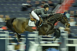 October 25, 2017 - Washington, DC, U.S - American CATHERINE TYREE, riding Enjoy Louis, competes in the International Jumper 1.45m Time First Round held at the Capital One Arena in Washington, DC. (Credit Image: © Amy Sanderson via ZUMA Wire)