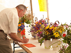 Flower competition at Meadows Community Gardens, Nottingham, England