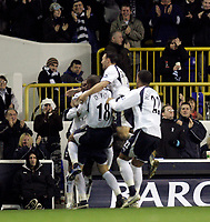 Photo: Marc Atkins.<br /> Tottenham Hotspur v Middlesbrough. The Barclays Premiership. 05/12/2006. Dimitar Berbatov celebrates with teamates after scoring for Spurs.