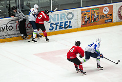MOTIEJUNAS Dominykas (LTU) vs  during OI pre-qualifications of Group G between Slovenia men's national ice hockey team and Lithuania men's national ice hockey team, on February 6, 2020 in Ice Arena Podmezakla, Jesenice, Slovenia. Photo by Peter Podobnik / Sportida