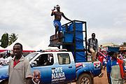 NPP campaign truck at a rally in Adentan-Ghana. October 20,2016. Photo: Francis Kokoroko