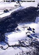 Southwest PA Aerial, Bedford Co., Farms and Snow Aerial Photograph Pennsylvania