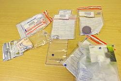 © Licensed to London News Pictures.  06/12/2012. MILTON KEYNES, UK. Cash and drugs seized as part of Operation Rouse by Thames Valley Police. A total of 22 warrants were executed under the Misuse of Drugs Act in the Milton Keynes area this morning, with a further four carried out in the Metropolitan Police area and one in Northampton. 240 police officers were involved and 21 people arrested.  Photo credit :  Cliff Hide/LNP