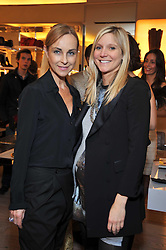 Left to right, ELAINE SULLIVAN and CALGARY AVANSINO at a party to celebrate the arrival of the 'A Princess to be a Queen' collection at the Roger Vivier boutique on Sloane Street, London on 20th October 2009.