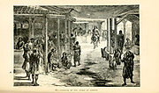 Interior of the Agora in Athens engraving on wood From The human race by Figuier, Louis, (1819-1894) Publication in 1872 Publisher: New York, Appleton