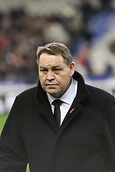 November 11, 2017 - Paris, France - All Blacks Head Coach Steve Hansen before the International test match between France and New Zealand at Stade de France. (Credit Image: © SOPA via ZUMA Wire)