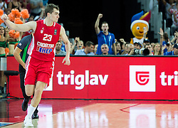 Mario Hezonja of Croatia during basketball match between Greece and Croatia at Day 2 in Group C of FIBA Europe Eurobasket 2015, on September 6, 2015, in Arena Zagreb, Croatia. Photo by Vid Ponikvar / Sportida