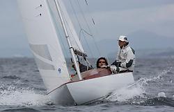 International Dragon Class Scottish Championships 2015.<br /> <br /> Day 1 racing in perfect conditions.<br /> JPN50, YEVIS II, Bocci A Aoyama, Enoshima YC<br /> <br /> <br /> Credit Marc Turner