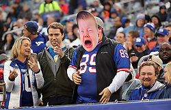 Los Angeles Rams vs. New York Giants at MetLife Stadium in East Rutherford, N.J. - A fan wears a crying baby cut out during the fourth quarter. ***NO NEW YORK DAILY NEWS, NO NEW YORK TIMES, NO NEWSDAY***. 05 Nov 2017 Pictured: Crying baby. Photo credit: Charles Wenzelberg/New York PostMEGA TheMegaAgency.com +1 888 505 6342