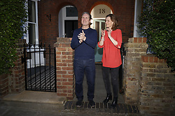 © Licensed to London News Pictures. 09/04/2020. London, UK. Recently elected Labour Party Leader Sir Keir Starmer and his wife Vic join in with the 'Clap for Carers' applause outside his north London home. The government has warned that people must continue to follow the public health guidance over the upcoming Easter weekend. Photo credit: Peter Macdiarmid/LNP