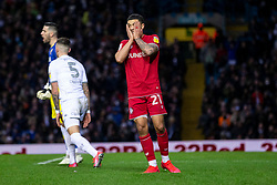 Nahki Wells of Bristol City looks dejected after a missed chance - Mandatory by-line: Daniel Chesterton/JMP - 15/02/2020 - FOOTBALL - Elland Road - Leeds, England - Leeds United v Bristol City - Sky Bet Championship
