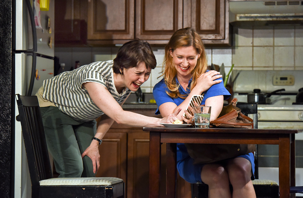 """Photo by Mara Lavitt<br /> New Haven, CT<br /> April 26, 2017<br /> Technical rehearsal for Yale Repertory Theatre's production of """"Mary Jane."""" Emily Donahoe, left, and Miriam Silverman."""