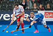 England v Scotland - Investec London Cup, Lee Valley Hockey & Tenis Centre, London, UK on 09 July 2014. Photo: Simon Parker