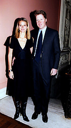 The EARL & COUNTESS SPENCER at a party to celebrate the publication of Andrew Robert's new book 'Waterloo: Napoleon's Last Gamble' and the launch of the paperback version of Leonie Fried's book 'Catherine de Medici' held at the English-Speaking Union, Dartmouth House, 37 Charles Street, London W1 on 8th February 2005.<br />