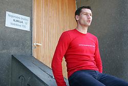 Portrait of ex Slovenian football player Ermin Siljak, on June 2, 2005, NK Ilirija, Koseze, Ljubljana, Slovenia.  (Photo by Vid Ponikvar / Sportida)