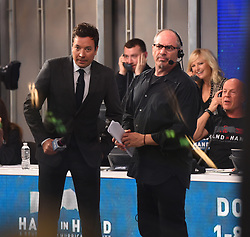 "Celebrities at the ""Hand to hand"" telethon in Times square, New York City. 12 Sep 2017 Pictured: Jimmy Fallon. Photo credit: MEGA TheMegaAgency.com +1 888 505 6342"