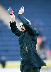 Steven Pressley, Falkirk manager at the end..Falkirk 1 v 0 Queen of the South, 15/10/2011..Pic © Michael Schofield.