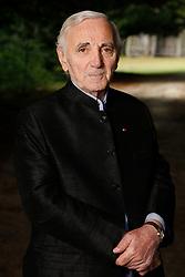 Charles Aznavour poses in Paris, France on September 2010. Photo by Vim/ABACAPRESS.COM