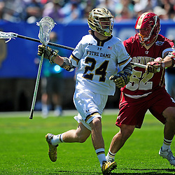 The Denver Pioneers take on the Notre Dame Fighting Irish in the NCAA Men's Lacrosse Championship Semifinal on May 23, 2015 at Lincoln Financial Field in Philadelphia, Pennsylvania.