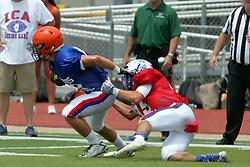 17 June 2017: Sam Bailee (35) Illinois Shriner High School All Stars Football At Tucci Stadium in Bloomington Illinois