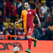 Galatasaray's Selcuk Inan during their Turkish Super League soccer match Galatasaray between Genclerbirligi at the AliSamiYen Spor Kompleksi TT Arena at Seyrantepe in Istanbul Turkey on Saturday, 17 October 2015. Photo by Kurtulus YILMAZ/TURKPIX