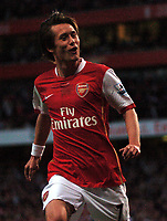 Photo: Tony Oudot.<br /> Arsenal v Manchester City. The Barclays Premiership. 17/04/2007.<br /> Tomas Rosicky of Arsenal celebrates the first goal