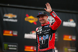 February 10, 2019 - Daytona, FL, U.S. - DAYTONA, FL - FEBRUARY 10: Clint Bowyer, driver of the #14 Mobil 1 Ford, waves during driver intros before the Advance Auto Parts Clash on February 10, 2019 at Daytona International Speedway in Daytona Beach, FL. (Photo by David Rosenblum/Icon Sportswire) (Credit Image: © David Rosenblum/Icon SMI via ZUMA Press)