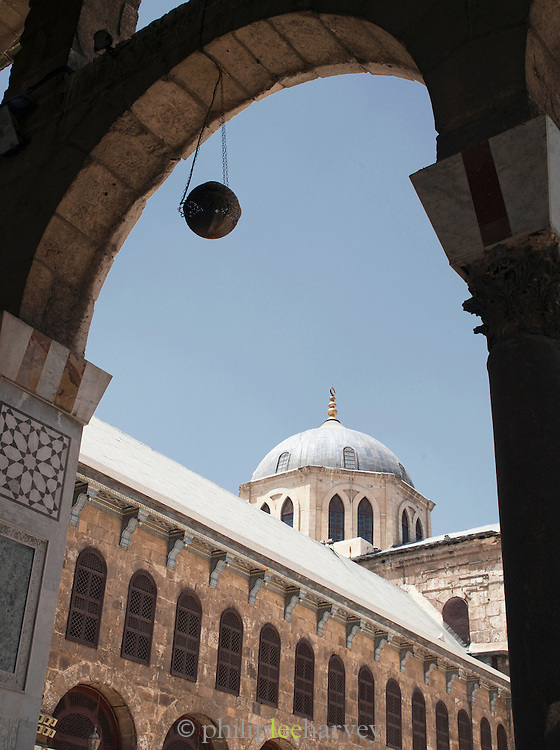 Inside the Umayyad Mosque, the Great Mosque of Damascus, Damascus, Syria
