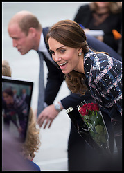 October 14, 2016 - Manchester, United Kingdom - Image licensed to i-Images Picture Agency. 14/10/2016. Manchester, United Kingdom. The Duke and Duchess of Cambridge meets the crowds as they leave  the National Football Museum  in Manchester. Picture by Stephen Lock / i-Images (Credit Image: © Stephen Lock/i-Images via ZUMA Wire)
