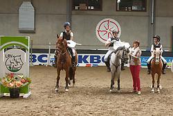 Team Westerlo <br /> Caems Ruben - Chop Choy<br /> Caems Robin - Divina<br /> Van Bylen Celien - Dia Veneto<br /> Finale SBB jonge ponies - Oud Heverlee 2014<br /> © Dirk Caremans