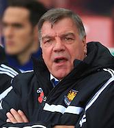 West Ham manager, Sam Allardyce - Stoke City vs. West Ham United - Barclay's Premier League - Britannia Stadium - Stoke - 01/11/2014 Pic Philip Oldham/Sportimage