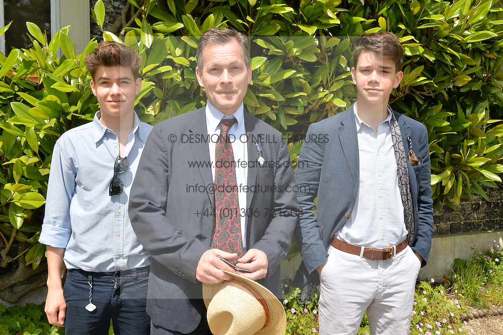 DANIEL CHATTO and his sons ARTHUR and SAMUEL at the Cartier hosted Style et Lux at The Goodwood Festival of Speed at Goodwood House, West Sussex on 29th June 2014.
