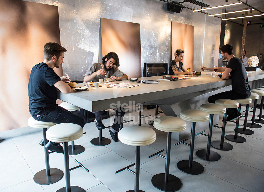 A general view of Untitled restaurant in east London.<br /> Picture by Daniel Hambury/Stella Pictures Ltd 07813022858<br /> 07/10/2017