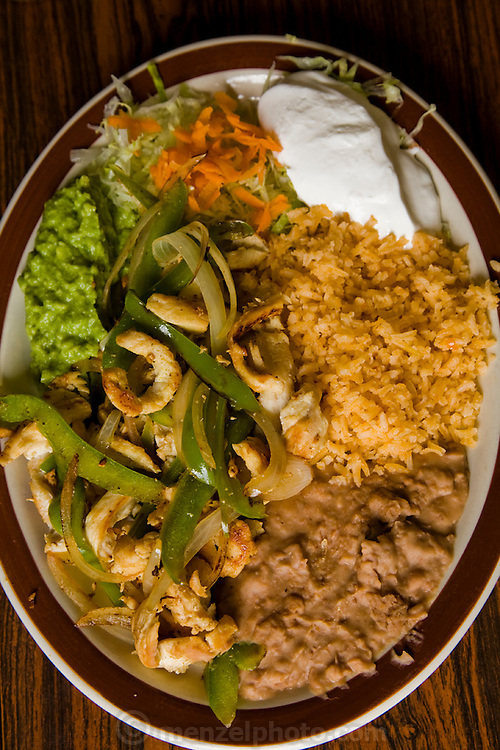 A Mexican dish at Los Dos Laredos, a Mexican restaurant owned by the Alvarez family in Chicago Illinois. (Lourdes Alvarez is featured in the book What I Eat;  Around the World in 80 Diets.)