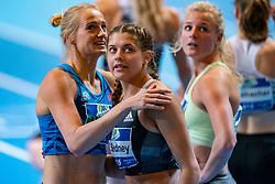 Anouk Vetter third on the 60 meter hurdles and Zoë Sedney win silver during the Dutch Indoor Athletics Championship on February 23, 2020 in Omnisport De Voorwaarts, Apeldoorn