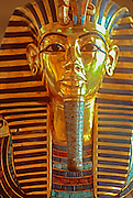 EGYPT, CAIRO, ANCIENT ART Museum of Egyptian Antiquities; King Tut's (Tutankhamun) golden Funerary Mask